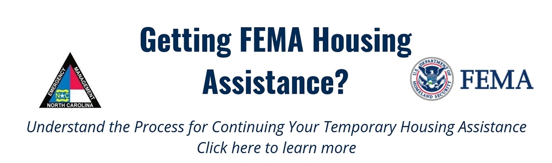 Getting FEMA housing assistance? Understand the process for continuing your temporary housing assistance. Click here to learn more.